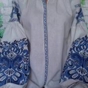 """Женская вышиванка """" Магия синего"""" купить"""