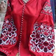 """Женская вышиванка """" Магия красного"""" купить"""