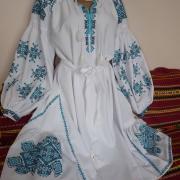 """Белое женское платье вышиванка """"Роксолана"""" фото"""