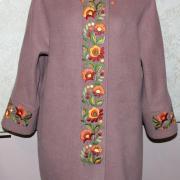 "Бежеве класичне пальто ""Колірна гамма"" фото"