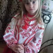 """Детская вышиванка """"Красные лучи"""" фото"""