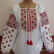 """Женская вышиванка """"Красная мечта"""" фото"""