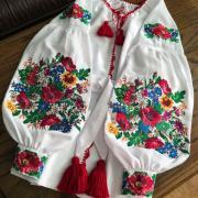 """Женская вышитая блуза """"Цветочное поле"""" фото"""