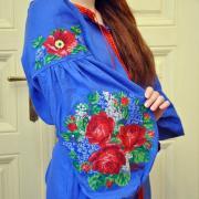 """Женское вышитое платье бохо """" Весенние цветы"""" фото"""