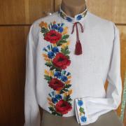 """Мужская вышиванка """"Полевые цветы"""" фото"""