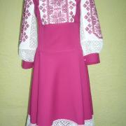 Рожеве жіноче плаття Ажур фото