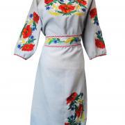 Купить вышитое платье с маками