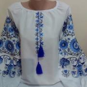 """Женская вышиванка """" Магия в голубом"""" купить"""