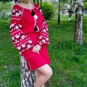 Женское вышитое платье Багряное купить