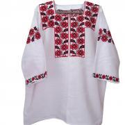 Женская вышиванка с полевыми маками купить Киев