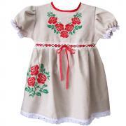 Украинское платье для девочки с вышивкой купить