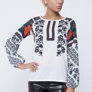 Стрейч-шифонова блуза придбати