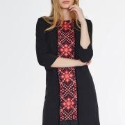 Черное платье с бахромой фото