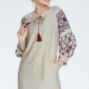 Бежеве плаття на льоні фото