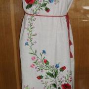 """Жіноча вишита сукня """" Маковий колір"""" купити"""