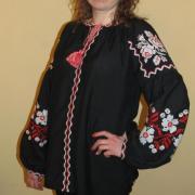 """Женская вышиванка """"Цветочная поляна"""" фото Крестик Киев"""