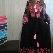 """Цветочное платье вышиванка в стиле бохо """"Амели"""" фото"""