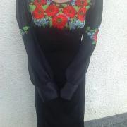 """Женское вышитое платье """" Красные маки"""" купить"""