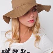 Горчичная женская панама в украинском стиле