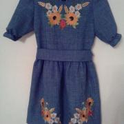 Детское вышитое платье Подсолнухи купить