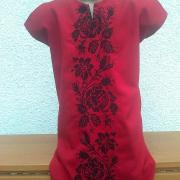 "Дитяча вишита сукня ""Чорна троянда""купити"