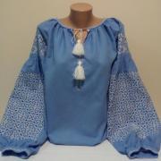 """Женская вышиванка """"Идилия в голубом"""" купить"""