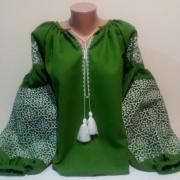 """Жіноча вишиванка """"Идилия в зеленому"""" купити"""