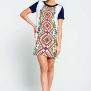 Женское летнее платье ромбы фото
