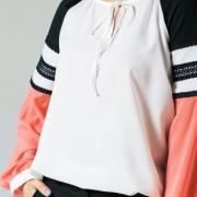 Жіноча блуза коралова фото