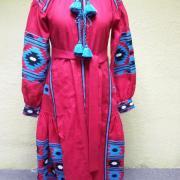 Платье в бохо-стиле малинового цвета фото