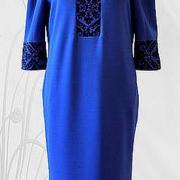 """Жіноча вишита сукня """" Класика в синій"""" купити"""