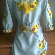 """Дитяча вишита сукня """" Сонячні соняшники"""" купити"""
