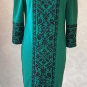 """Женское вышитое платье """" Классика в зеленом"""" купить"""