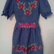 Детское вышитое платье Маки купить