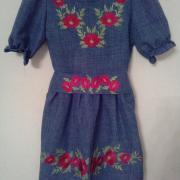 Дитяча вишита сукня Маки купити