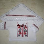 """Хрестильний набір для дівчинки """"Квітуча калина"""" купити Київ."""