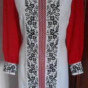 """Жіноча вишита сукня """"Червона і чорна"""" купити"""