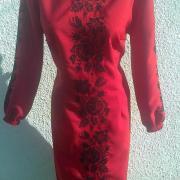 """Жіноча вишита сукня """" Чорна троянда""""  купити"""