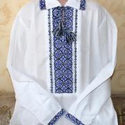 Детская вышиванка на мальчика - синий с черным купить