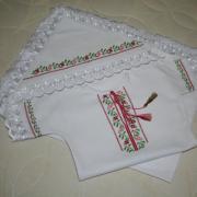 Вишита крижма і хрестильна сорочка хрестиком купити Київ