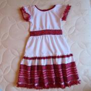 Детские вышитые платья разные модели