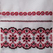 Український рушник з вишивкою хрестом на весілля купити