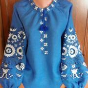 Женская блузка синее солнце фото