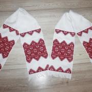 Вышитый свадебный рушник ручной работы купить