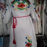 """Женское вышитое платье """"Цветочное поле"""" 2 фото"""