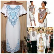 """Стильна вишита сукня з відкритими плечима """"Муза"""" фото"""