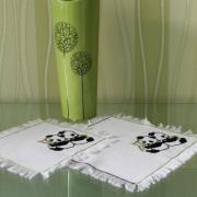 Набор салфеток с вышивкой « Панды» заказать Киев.