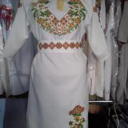 """Женское вышитое платье """" Золото и лилии"""" купить"""