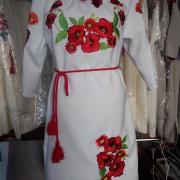 """Женское вышитое платье """" Красные маки"""" 2 купить"""
