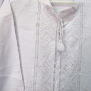 Чоловіча вишита сорочка білим по білому